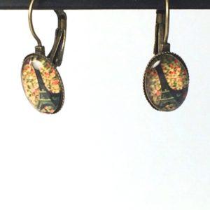 Ovalen oorhangers Eifeltoren klein model