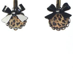 Gekartelde oorhangers luipaard strik