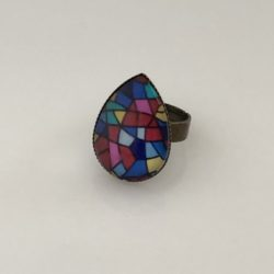 Ring druppel glas in lood