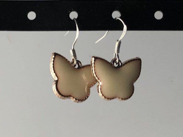 Zilveren oorhangers vlinder